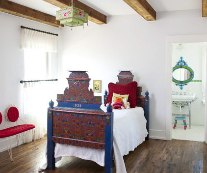 Southwestern Bedroom by Astleford Interiors, Inc.