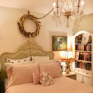 This is an example of a shabby-chic style bedroom in Philadelphia.