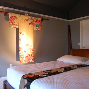 Example of an asian bedroom design in Other