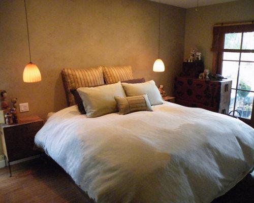 asiatische schlafzimmer mit gelber wandfarbe ideen design. Black Bedroom Furniture Sets. Home Design Ideas