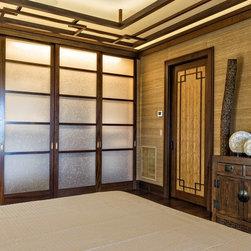 Asian Inspired Retreat in Palm Beach - Custom Bamboo Doors and Glass Doors - Ron Rosenzweig Photography