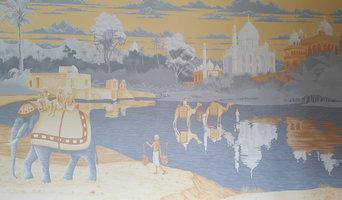 Asian themed bedroom mural