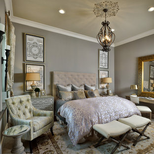 Bedroom Transitional Master Idea In Houston