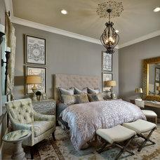 Transitional Bedroom by Ultimate Designs by DR (Deborah Rivera)