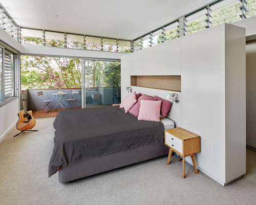Design ideas for a large contemporary master bedroom in Sydney with carpet. Master Bedroom Design Ideas  Renovations   Photos