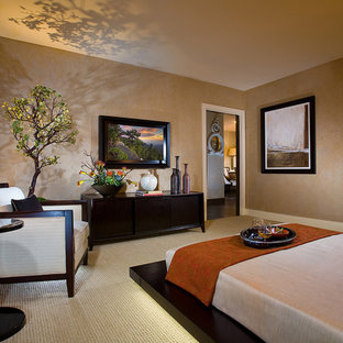 Inspiration for an asian bedroom remodel in Orange County