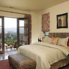 Mediterranean Bedroom by Amoroso Design