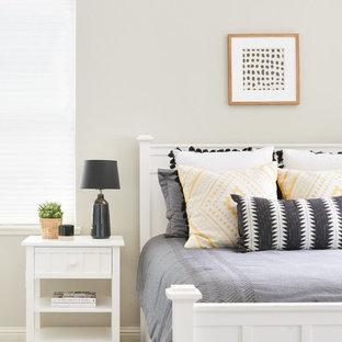 Bedroom - bedroom idea in San Francisco with beige walls
