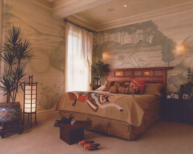 Asian Bedroom by Audrey Brandt Interiors