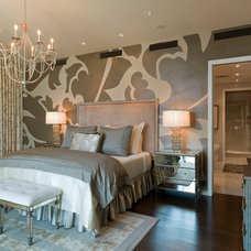 contemporary bedroom by Bravo Interior Design