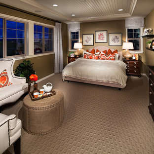 Example of an arts and crafts bedroom design in Denver