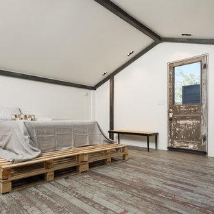 Bedroom - industrial bedroom idea in Phoenix