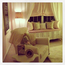 Traditional Bedroom Baby Girl Nursery: Orchid and pale pink