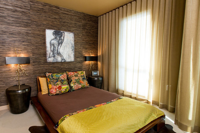 Asian Bedroom by Olive Juice Designs