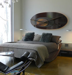 contemporary bedroom by Susan Brook Interiors