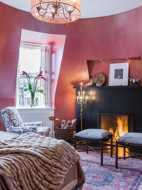 bedroom design ideas renovations photos with dark hardwood flooring