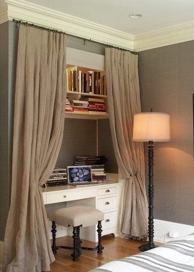 Transitional Bedroom by Lynne Scalo Design