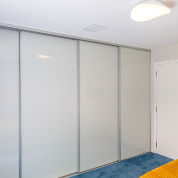 Back-painted Glass Sliding Wardrobe Doors