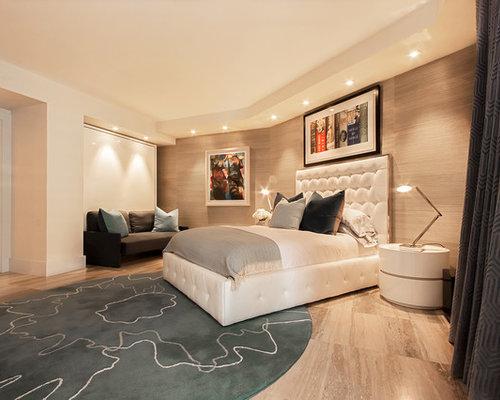 Chambre d 39 amis moderne avec un sol en travertin photos for Decoration chambre d amis