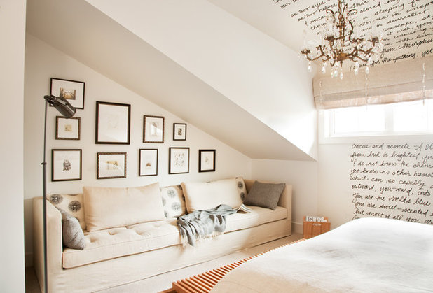 Transitional Bedroom by Kelly Deck Design