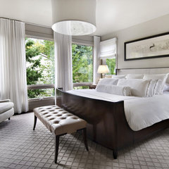 contemporary bedroom by AMW Design Studio