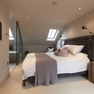 Inspiration for a transitional bedroom remodel in London