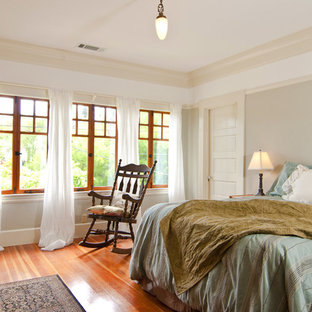 Inspiration for a craftsman bedroom remodel in San Francisco with gray walls