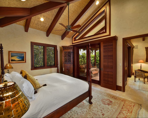 example of an island style bedroom design in hawaii - Bali Bedroom Design