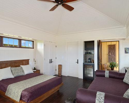Chambre exotique avec un sol en bois fonc photos et id es d co de chambres - Chambre en bois exotique ...