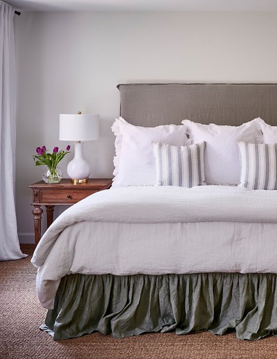 Transitional Bedroom by Ally Whalen Design