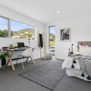 This is an example of a contemporary bedroom in Hobart.