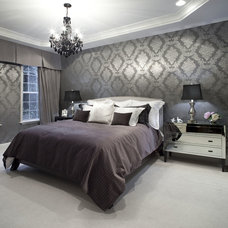 eclectic bedroom by Kendall Marcelle Design Assoc. Inc.