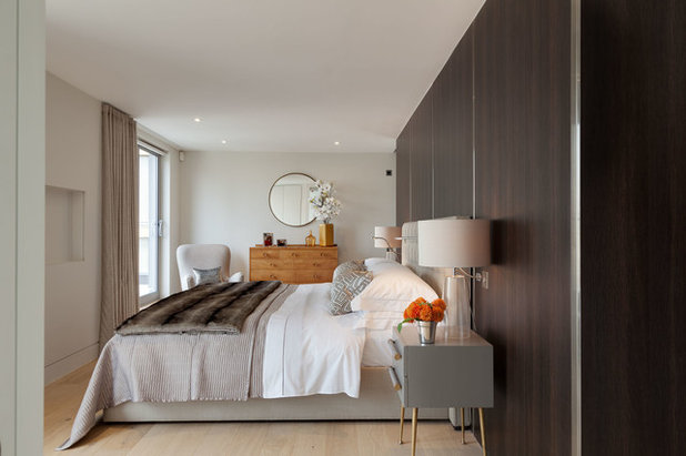 Contemporary Bedroom by Elizabeth Bowman