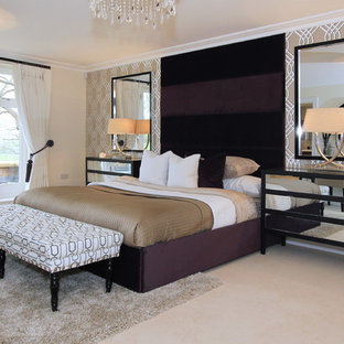 Inspiration For A Medium Sized Clic Bedroom In Buckinghamshire With Beige Walls Carpet And