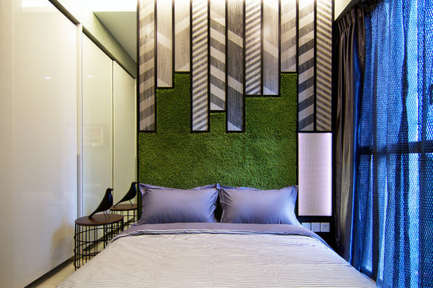 Eclectic Bedroom by KNQ Associates