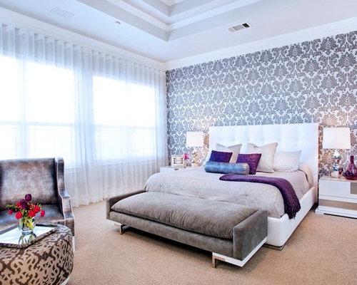 Master Bedroom Wallpaper | Houzz