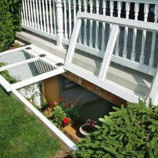 Basement Egress Window opens for fresh air