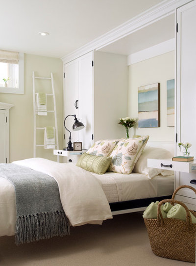Transitional Bedroom by Laura Stein Interiors