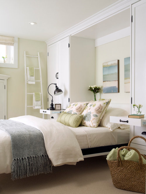 Transitional Guest Carpeted Bedroom Idea In Toronto With Beige Walls