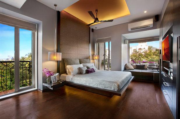 Contemporary Bedroom Bathija Residence