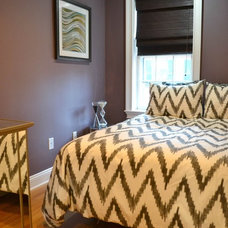 Eclectic Bedroom by colorTHEORY Boston