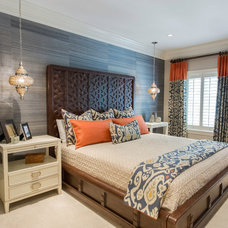 Transitional Bedroom by Lovelace Interiors