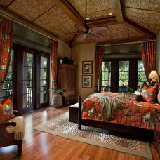 Tropical Bedroom by Kurtz Homes Naples