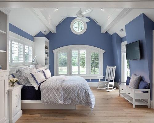 Chambre bord de mer avec un mur bleu photos et id es - Chambre bord de mer ...