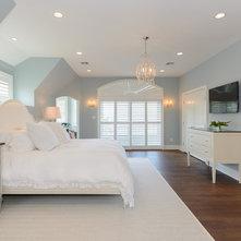 Transitional Bedroom by Heather Ryder Design