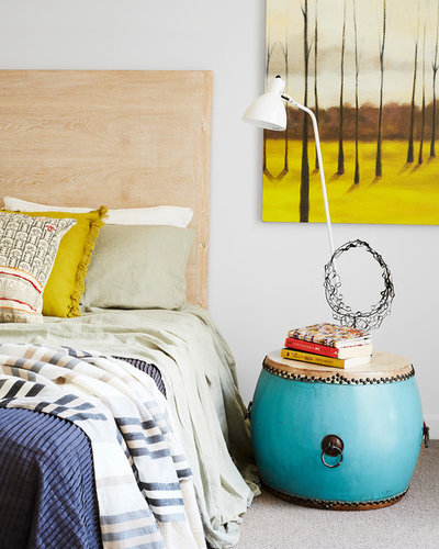 Eclectic Bedroom by Louise Walsh Interior Design & Decoration