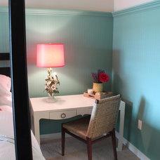 Beach Style Bedroom by Lisa Wolfe Design, Ltd