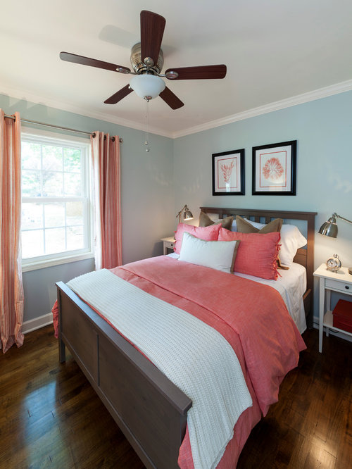 Beach Style Bedroom Idea In Charlotte With Blue Walls Part 15