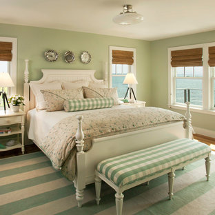 Inspiration For A Beach Style Bedroom Remodel In Dc Metro With Green Walls