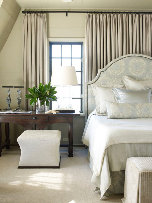 Inspiration For A Beach Style Carpeted Bedroom Remodel In Atlanta With Beige Walls